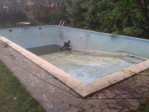 trasformazione piscina da giardino