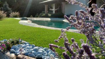 erba artificiale bordo piscina interrata